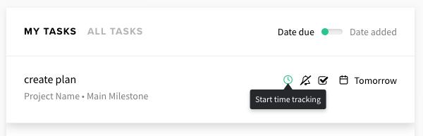 dashboard start timer